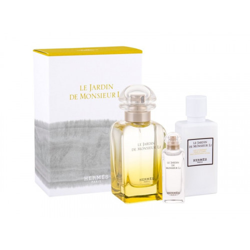 Hermes Le Jardin de Monsieur Li Set 50ml eau de toilette spray + 40ml Bodylotion + 7,5ml Miniatuur