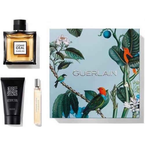 Guerlain L'Homme Ideal Set 100ml Eau De Toilette Spray + 75ml Showergel + 10ml edt tasspray