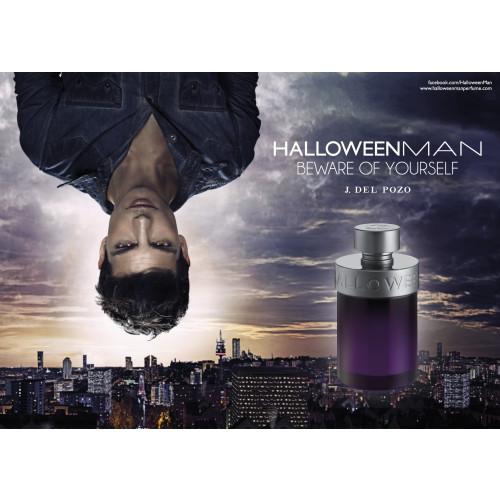 Jesus Del Pozo Halloween Man Set 125ml Eau de Toilette Spray + 100ml Showergel + 100ml Moisturizing Face Care + 10ml Eau de Toilette Spray