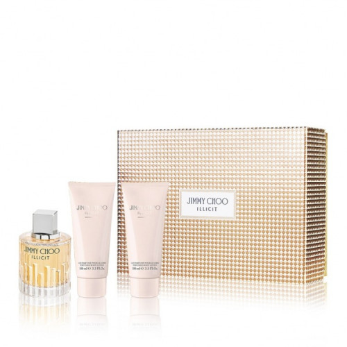 Jimmy Choo Illicit Set 100ml eau de parfum spray + 100ml Bodylotion + 100ml Showergel