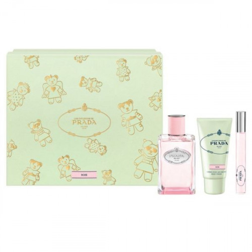 Prada Infusion de Rose 100 ml eau de parfum spray + 10 ml eau de parfum roll on + 50 ml hand cream