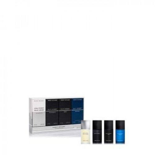 Issey Miyake L'eau D'Issey Pour Homme Miniaturen Set 4x7ml edt + edp (met nuit astral)