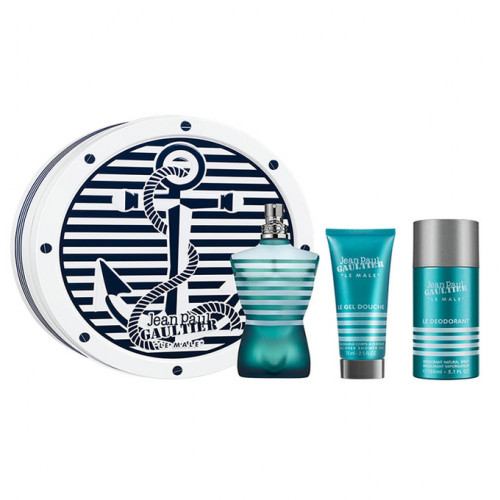 Jean Paul Gaultier Le Male Set 125ml eau de toilette spray + 75ml Showergel + 150ml Deodorant