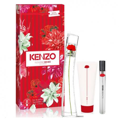 Kenzo Flower Set 50ml eau de parfum spray + 75ml Bodymilk + 10ml edp tasspray