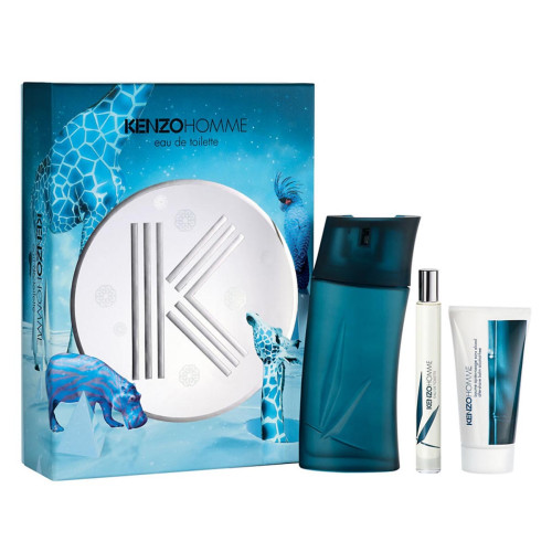Kenzo Homme Set 100ml eau de toilette spray + 50ml Aftershave Balm + 15ml edt tasspray