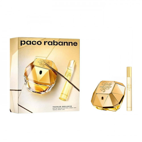 Paco Rabanne Lady Million Set 80ml eau de parfum spray + 20ml eau de parfum Tasspray