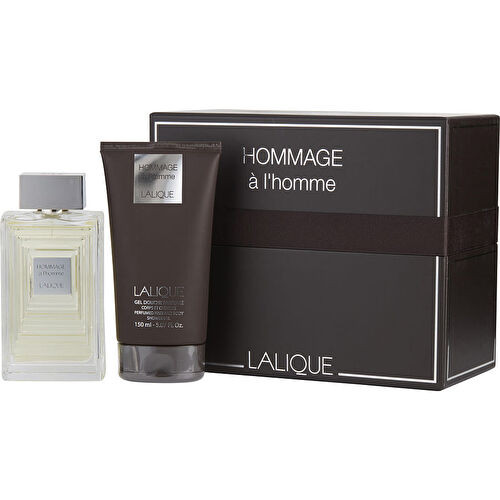 Lalique Hommage a L'Homme set 100ml eau de toilette spray + 150 ml Showergel