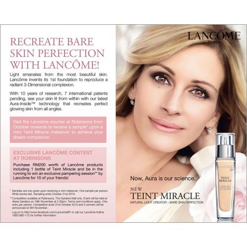 Lancôme Teint Miracle Bare Skin Foundation 30ml Spf15 12 - Ambre
