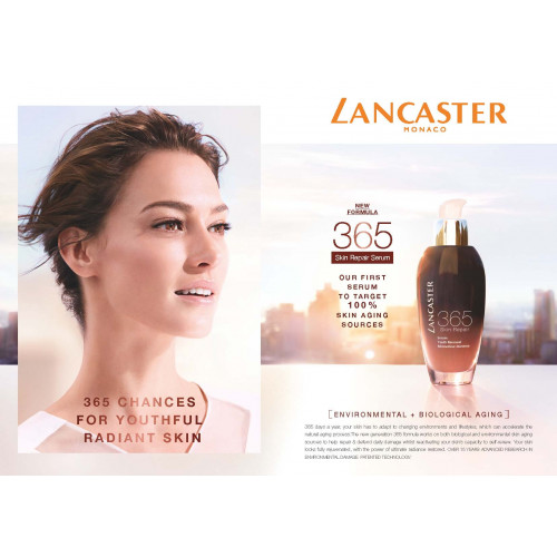 Lancaster 365 Skin Repair Night Gentle Peel Detoxifying Foam 100ml