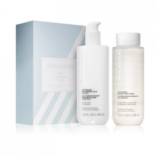 Lancaster Cleansing Block Softening Duo Cleansing Milk & Toner 2x 400ml