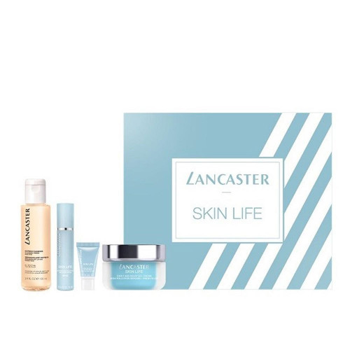 Lancaster Skin Life Set Early-Age-Delay Gel Day Cream 50ml + Shield & Primer spf 30 10 ml + Eye Cream 3ml + Express Cleaner 100ml