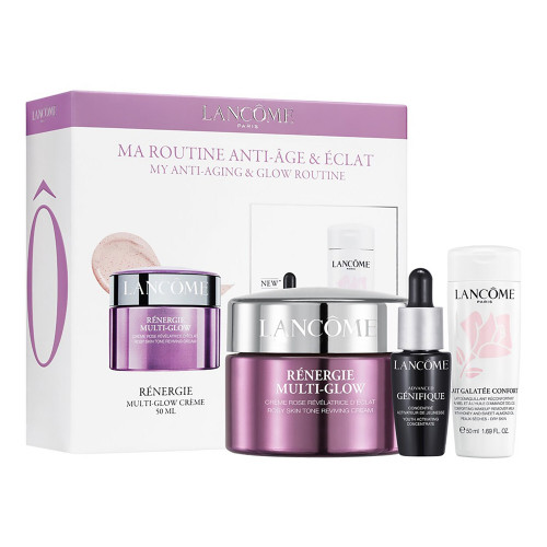 Lancome Renergie Multi-Glow set 50ml Dagcreme + Lait Galatee Confort 50ml + Advanced Genifique Serum 7ml