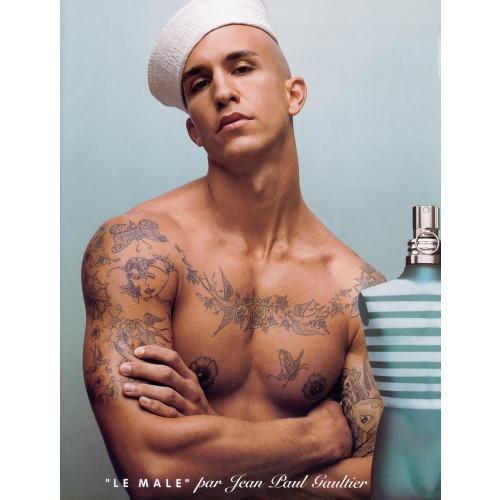 Jean Paul Gaultier Le Male Set 125ml  eau de toilette spray + JPG Muts