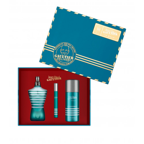 Jean Paul Gaultier Le Male Set 75ml eau de toilette spray + 150ml Deodorant Spray + 10ml Tasspray