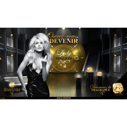 Paco Rabanne Lady Million Set 50ml eau de parfum spray + 75ml Bodylotion + 10ml edp miniatuur