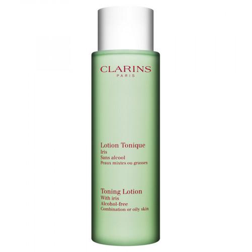 Clarins   Lotion Tonique Sans Alcool Iris Peaux Mixtes ou Grasses 200ml Reinigingslotion