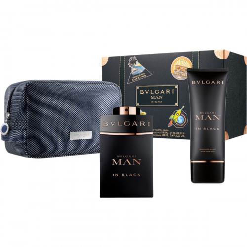 Bvlgari Man in Black Set 100ml edp + 100ml aftershave balm + tas