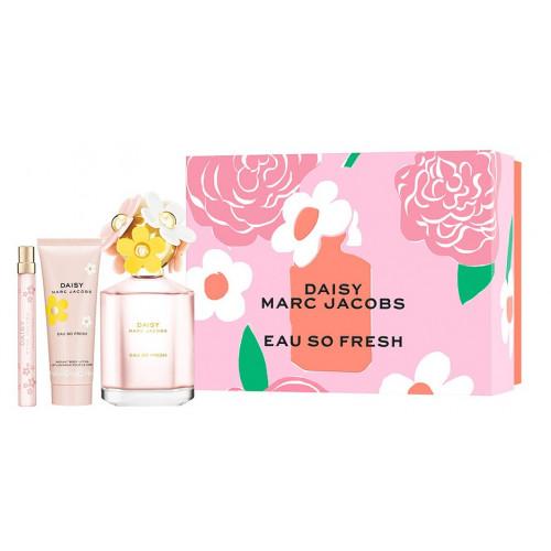 Marc Jacobs Daisy Eau So Fresh Set 125ml eau de toilette spray + 75ml Body Lotion + 10ml edt Mini Spray