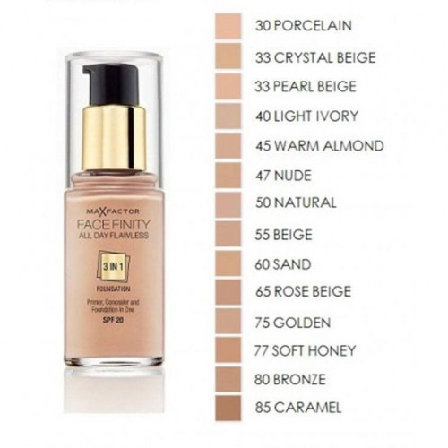 Max Factor Facefinity 3 in 1 Foundation 45 warm almond