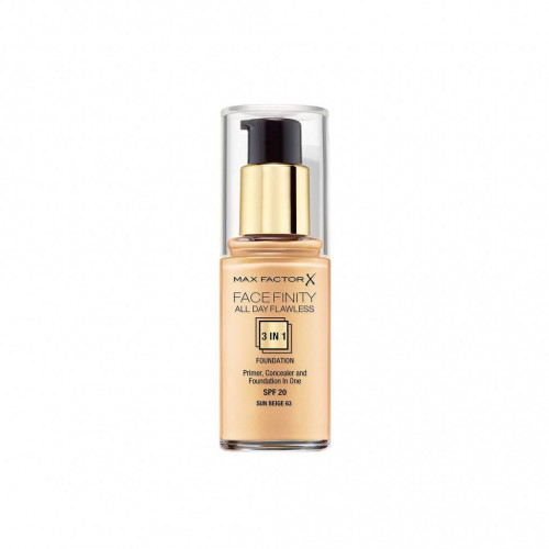 Max Factor Facefinity 3 in 1 Foundation 63 sun beige