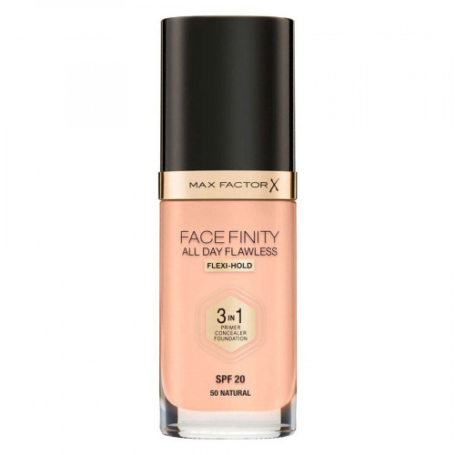 Max Factor Facefinity All Day Flawless 3 in 1 Foundation spf20 50 Natural