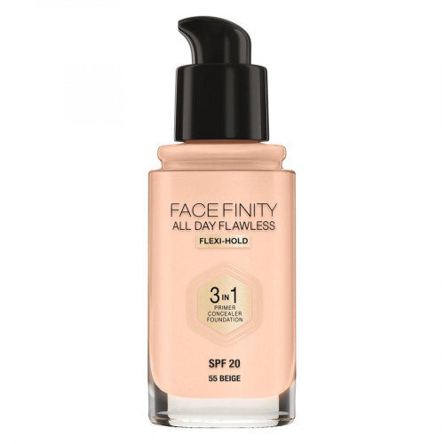 Max Factor Facefinity All Day Flawless 3 in 1 Foundation spf20 55 Beig