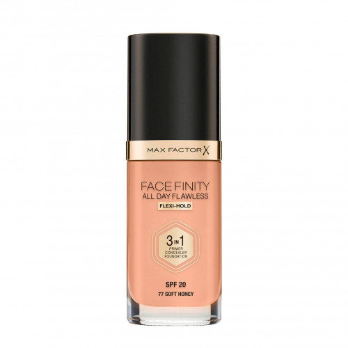 Max Factor Facefinity All Day Flawless 3 in 1 Foundation spf20 77 Soft Honey