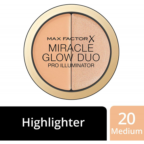 Max Factor Miracle Glow Duo Pro Illuminator Concealer + Highlighter 20 medium