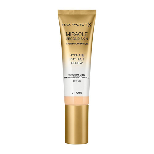 Max Factor Miracle Second Skin Hybrid Foundation SPF20 01 Fair 30ml