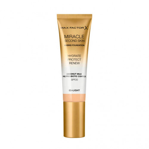 Max Factor Miracle Second Skin Hybrid Foundation SPF20 03 Light 30ml