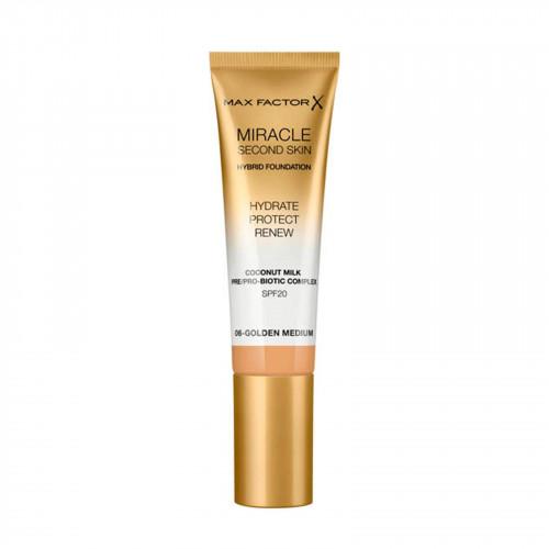 Max Factor Miracle Second Skin Hybrid Foundation SPF20 06 Golden Medium 30ml