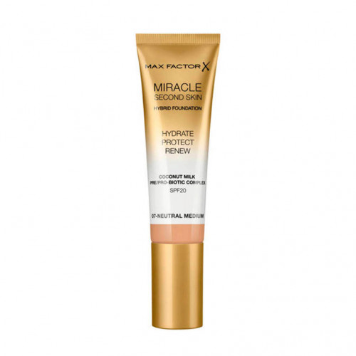Max Factor Miracle Second Skin Hybrid Foundation SPF20 07 Neutral Medium 30ml