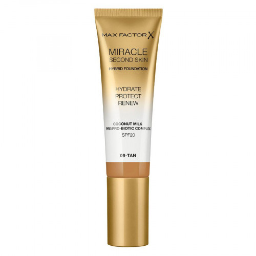 Max Factor Miracle Second Skin Hybrid Foundation SPF20 09 Tan 30ml