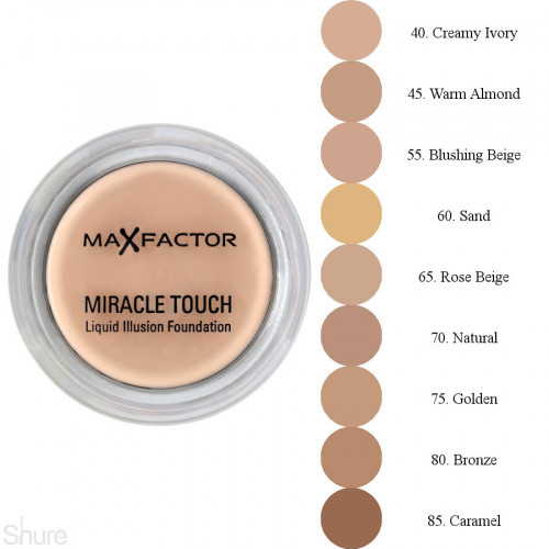 Max Factor Miracle Touch Skin Perfecing Foundation spf 30 75 Golden met Hyaluronic Acid