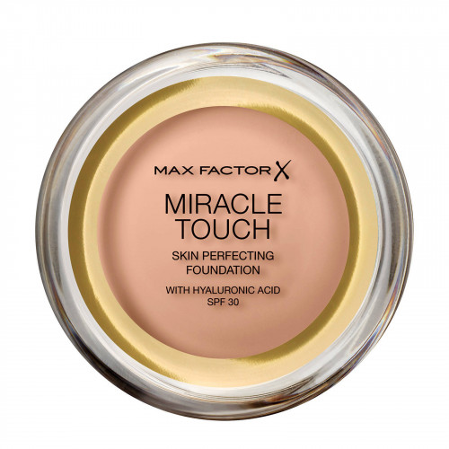 Max Factor Miracle Touch Skin Smoothing Foundation spf 30 45 Warm Almond met hyaluronic acid