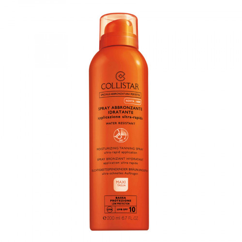 Collistar Moisturizing Tanning Spray SPF10 200ml Ultra-Rapid Application