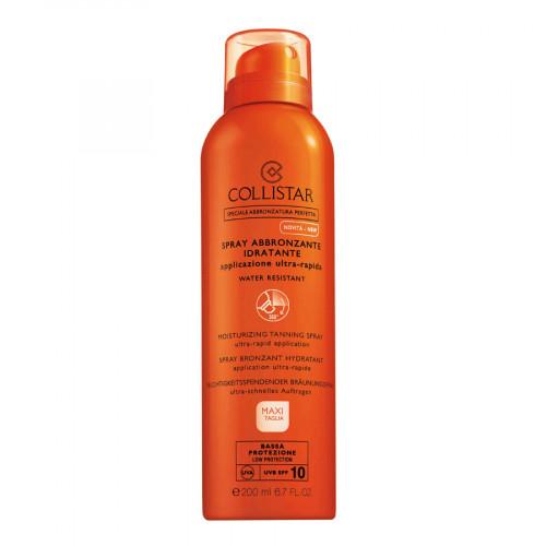 Collistar Moisturizing Tanning Spray SPF10 200ml Ultra-Rapid Application