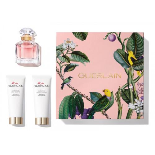 Guerlain Mon Guerlain Set 50ml eau de parfum spray + 75ml Bodylotion + 75ml Showergel