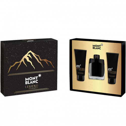 Mont Blanc Legend Set 100ml eau de parfum spray + 100ml Aftershave Balsem + 100ml Showergel