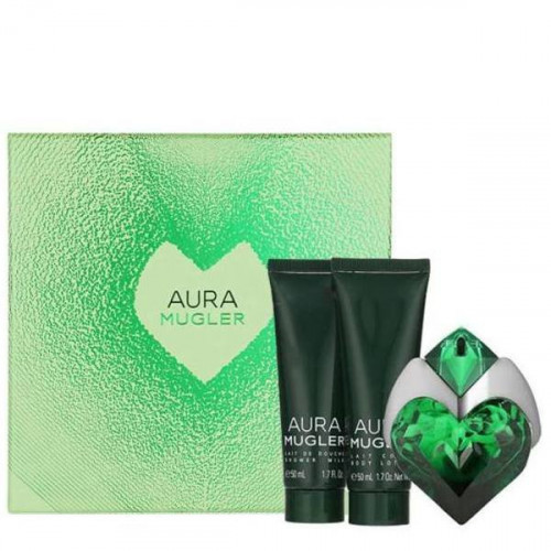 Thierry Mugler Aura Set 50ml eau de parfum spray + 50ml Bodylotion + 50ml Showergel