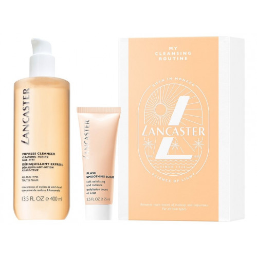 Lancaster Cleansing Block set All in One Express Cleanser 400ml Gezichtslotion + Flash Smoothing Scrub 75ml