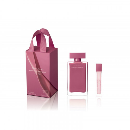 Narciso Rodriguez for Her Fleur Musc Set 100ml eau de parfum spray + 10ml eau de parfum miniatuur