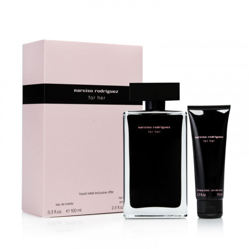 Narciso Rodriguez for Her Set 100ml eau de toilette spray + 75ml Bodylotion