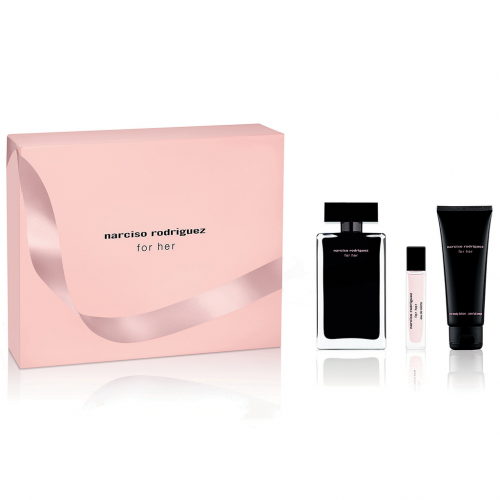 Narciso Rodriguez for Her Set 100ml eau de toilette spray  + 75 ml bodylotion + 10ml edt tasspray