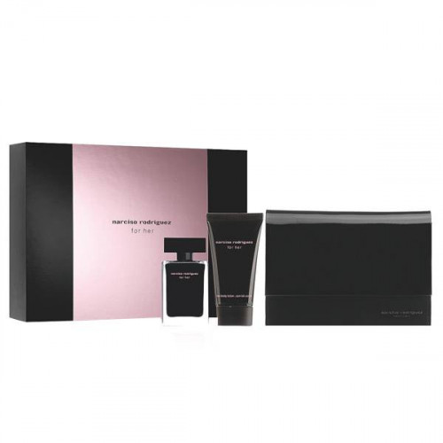 Narciso Rodriguez for Her Set 50ml eau de toilette spray + 50ml Bodylotion + pouch