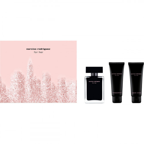 Narciso Rodriguez for Her Set 50ml eau de toilette spray + 75ml Showergel + 75ml Bodylotion