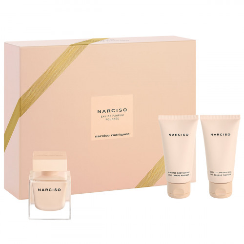 Narciso Rodriguez Narciso Poudrée Set 50ml eau de parfum spray + 50ml Showergel + 50ml Bodylotion