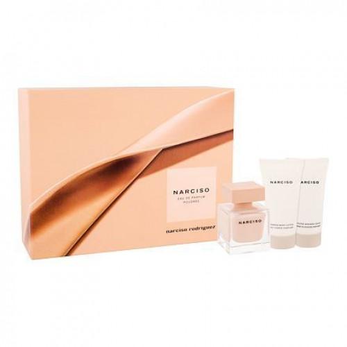 Narciso Rodriguez Narciso Poudrée Set 50ml eau de parfum spray + 50ml Showergel + 50ml Bodylotion