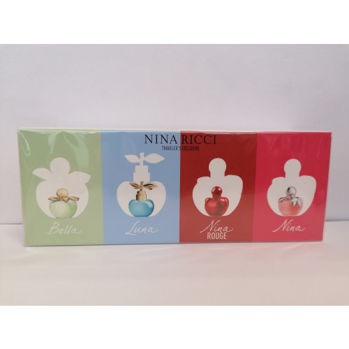 Nina Ricci Nina Miniaturen Set 4-delig ( bella, luna, nina rouge, nina)