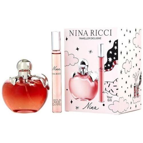 Nina Ricci Nina Set 80ml eau de toilette spray + 10ml Roll-on edt